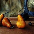 Pears and Chinese Bell by BethBernier