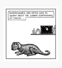 Schrodinger's dog Photographic Print