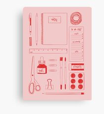 Stationery Obsessed Canvas Print