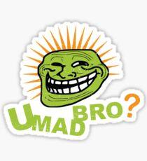 Troll Face t shirt You Mad Bro tee Sticker