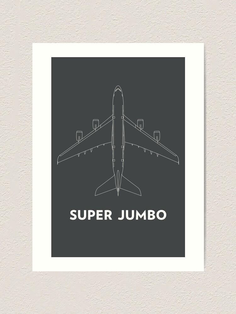 Alternate view of Super Jumbo Airbus A380 Art Print