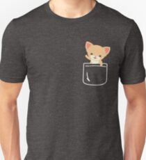 Chihuahua In Pocket Funny Greeting Hello Unisex T-Shirt