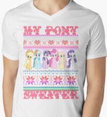 My Pony christmas sweater Men's V-Neck T-Shirt