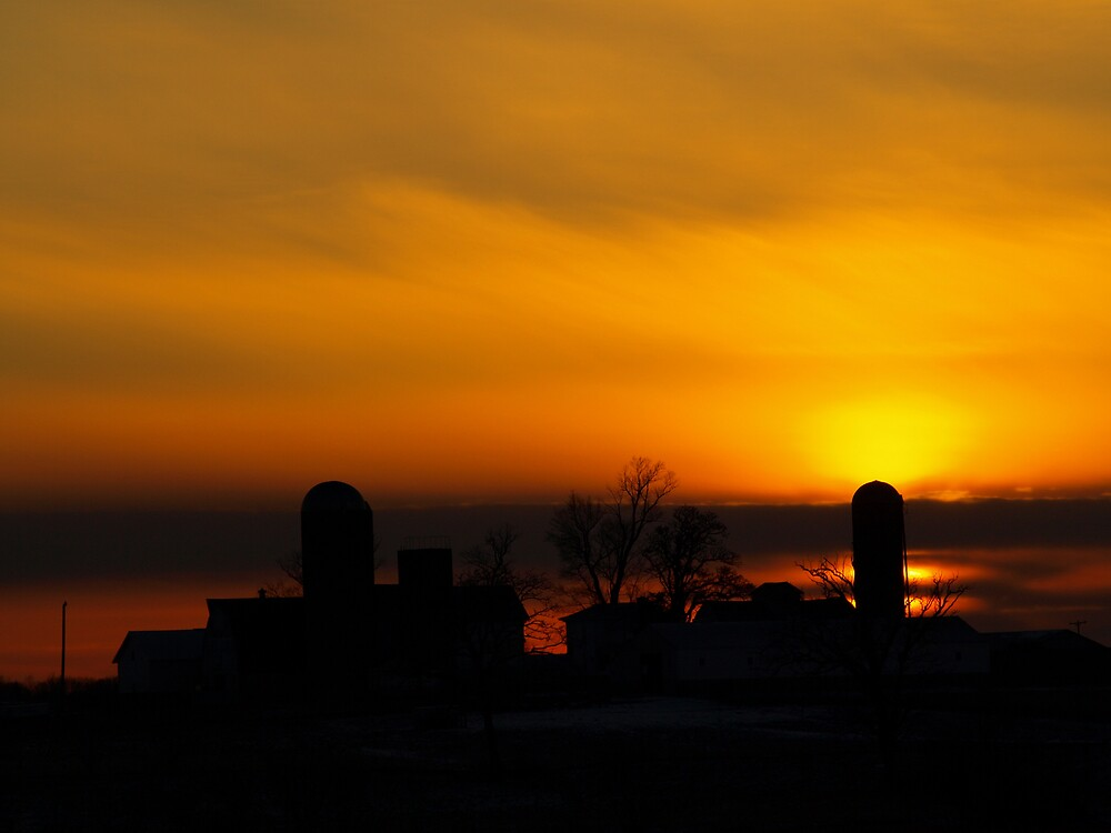 Farm Silhouette by JThill