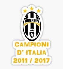 Juventus Campione d'Italia 2011 2017 Sticker