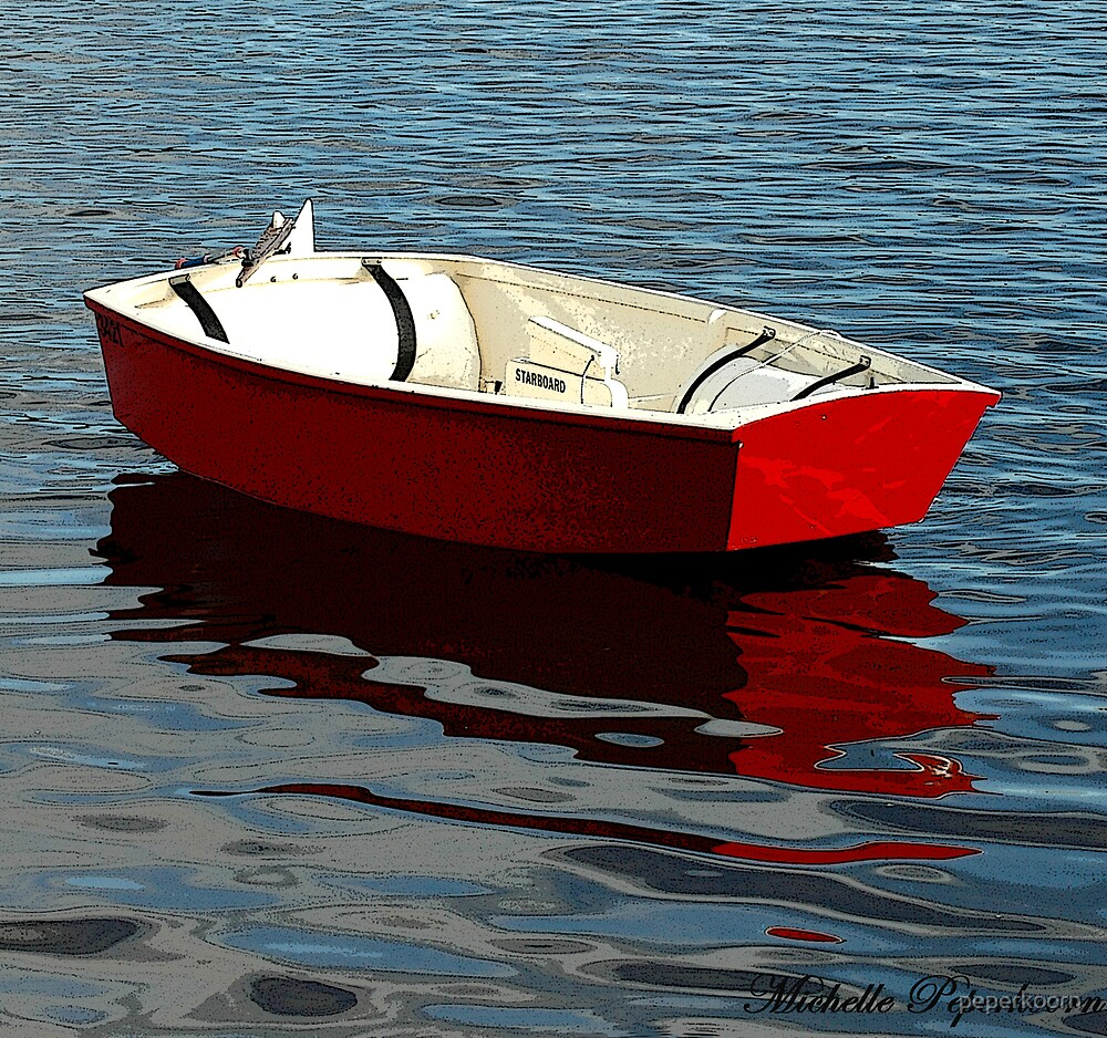 Red Dinghy by peperkoorn