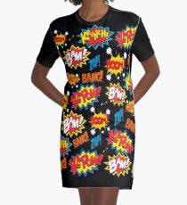Comic Book Explosion Graphic T-Shirt Dress
