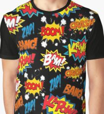 Comic Book Explosion Graphic T-Shirt