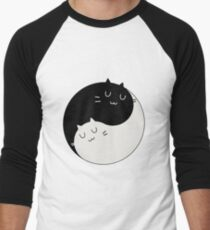 Yin Yang Kitty Men's Baseball ¾ T-Shirt