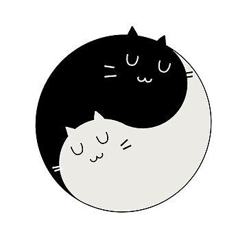 Yin Yang Kitty by Melloncino