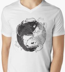 Yin Yang Fish Mens V-Neck T-Shirt