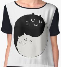 Yin Yang Kitty Chiffon Top