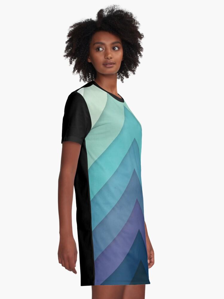 Alternate view of Retro Chevrons 001 Graphic T-Shirt Dress