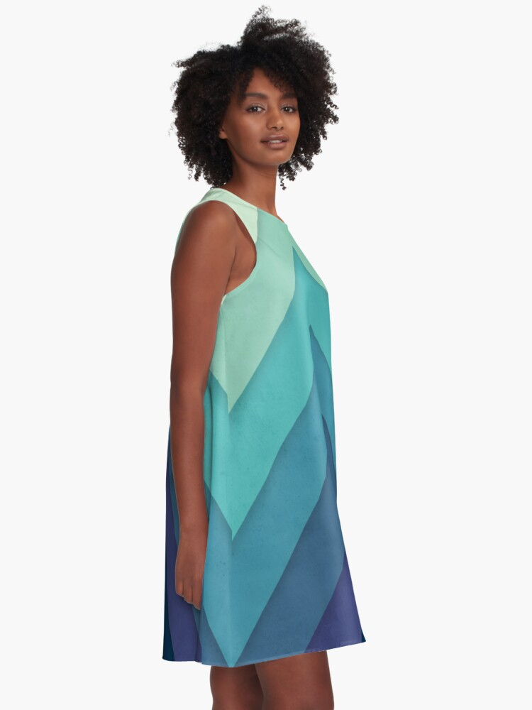 Alternate view of Retro Chevrons 001 A-Line Dress