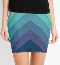 Retro Chevrons 001 Mini Skirt