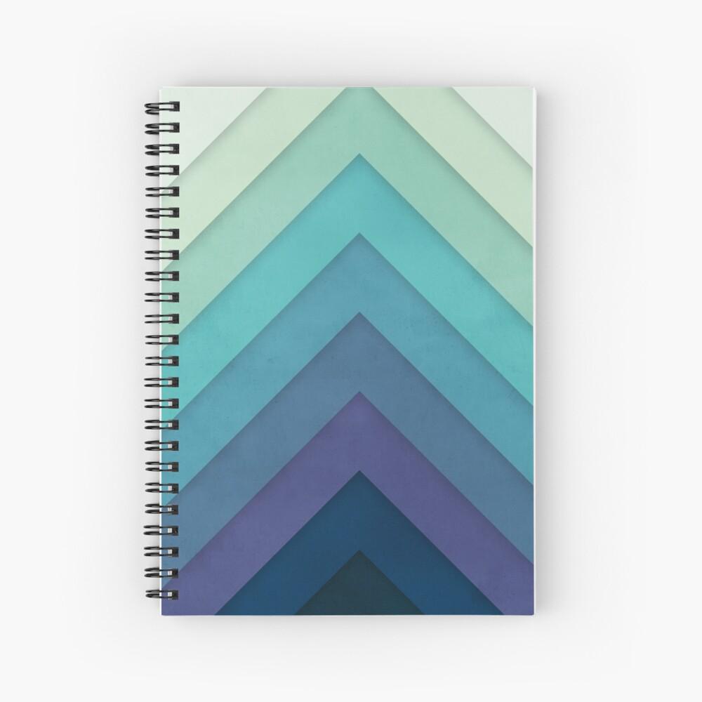Retro Chevrons 001 Spiral Notebook