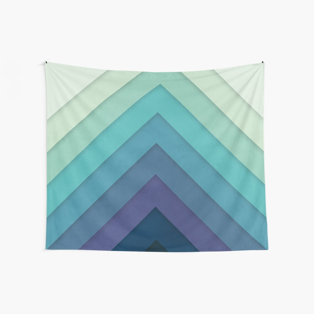 Retro Chevrons 001 Wall Tapestry
