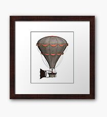 Steampunk Airship Design - Single Hot Air Balloon  Framed Print