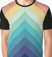 Retro Chevrons 002 Grafik T-Shirt
