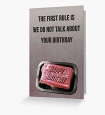 Fight Club - First Rule Greeting Card