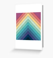 Retro Chevrons 002 Greeting Card