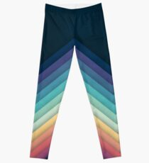 Retro Chevrons 002 Leggings