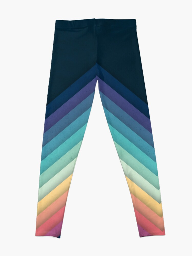 Alternate view of Retro Chevrons 002 Leggings