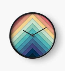 Retro Chevrons 002 Clock