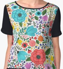 Colorful floral Chiffon Top