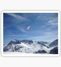 Flying High in the Alps! Sticker