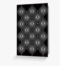 Electric Eyes - Black and White Greeting Card