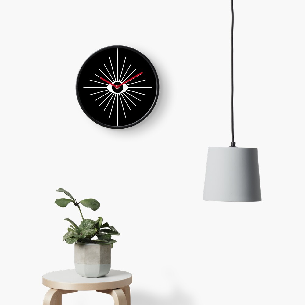 Electric Eyes - Black and White Clock