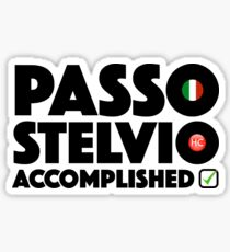 Passo Stelvio Accomplished Italy Cycling Stelvio Pass Climb Giro d'Italia Sticker