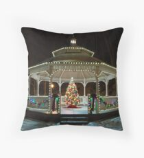 Walking Up To Christmas Throw Pillow