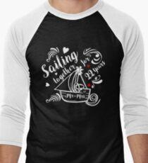 22 Years Wedding Anniversary Gift Ideas Beach Themed Marriage Ceremony Reception Men's Baseball ¾ T-Shirt