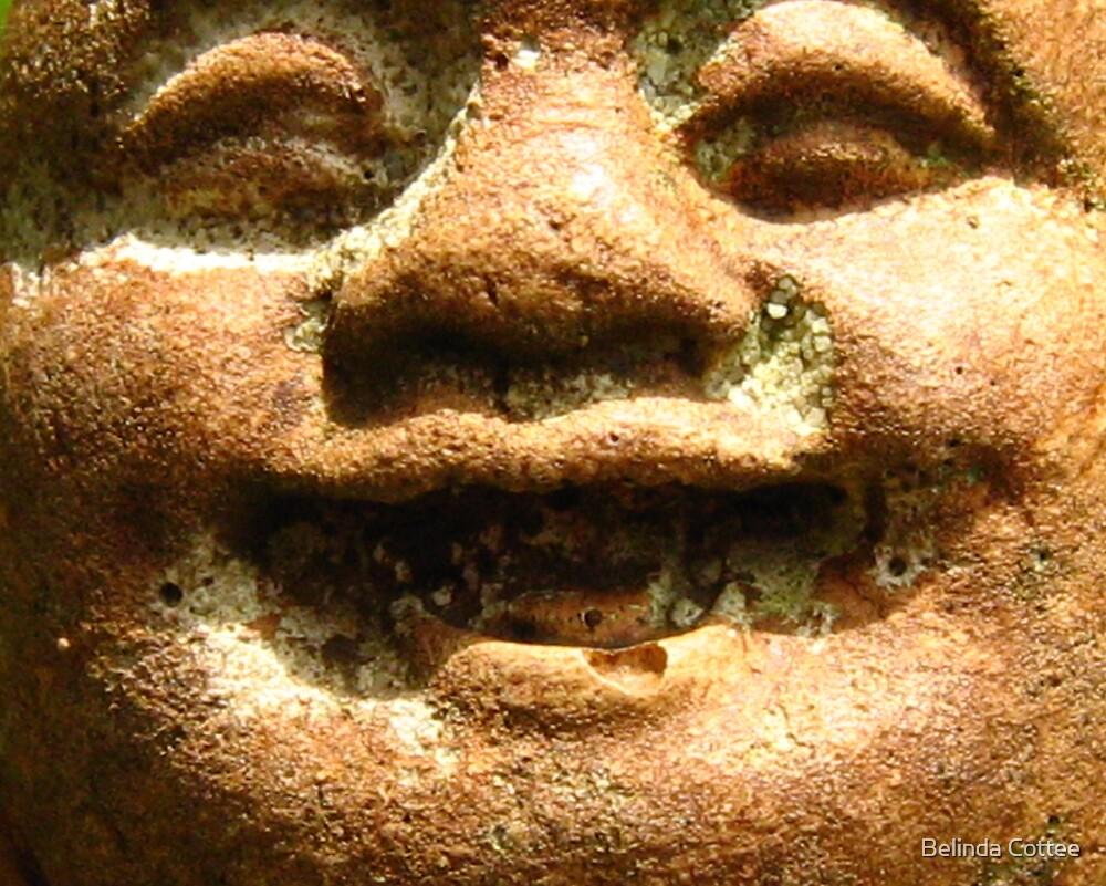 happy in stone by Belinda Cottee