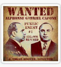 Al Capone Wanted Poster Sticker