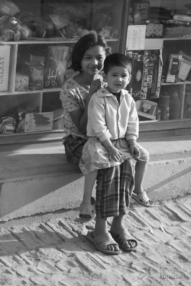 Roadside children by kateabell