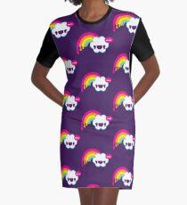 Wow Regenbogen T-Shirt Kleid