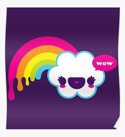 Wow Rainbow Poster