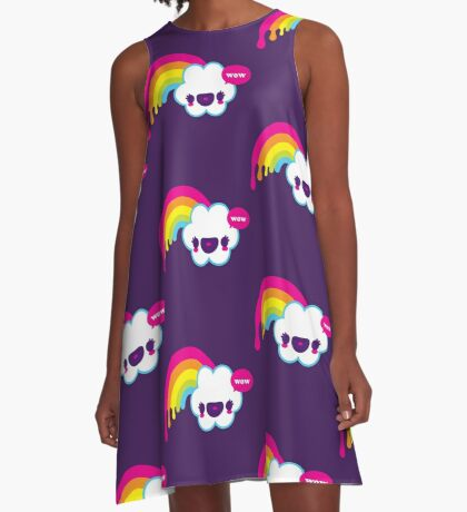 Wow Rainbow A-Line Dress