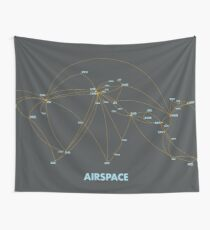 Airspace: Air route map and airport hub Tapestry