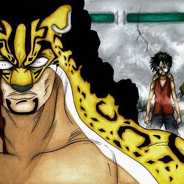Luffy vs Rob Lucci by Darkynere