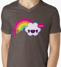 Wow Rainbow T-shirt col V homme