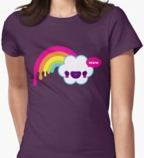 Wow Rainbow Women's Fitted T-Shirt