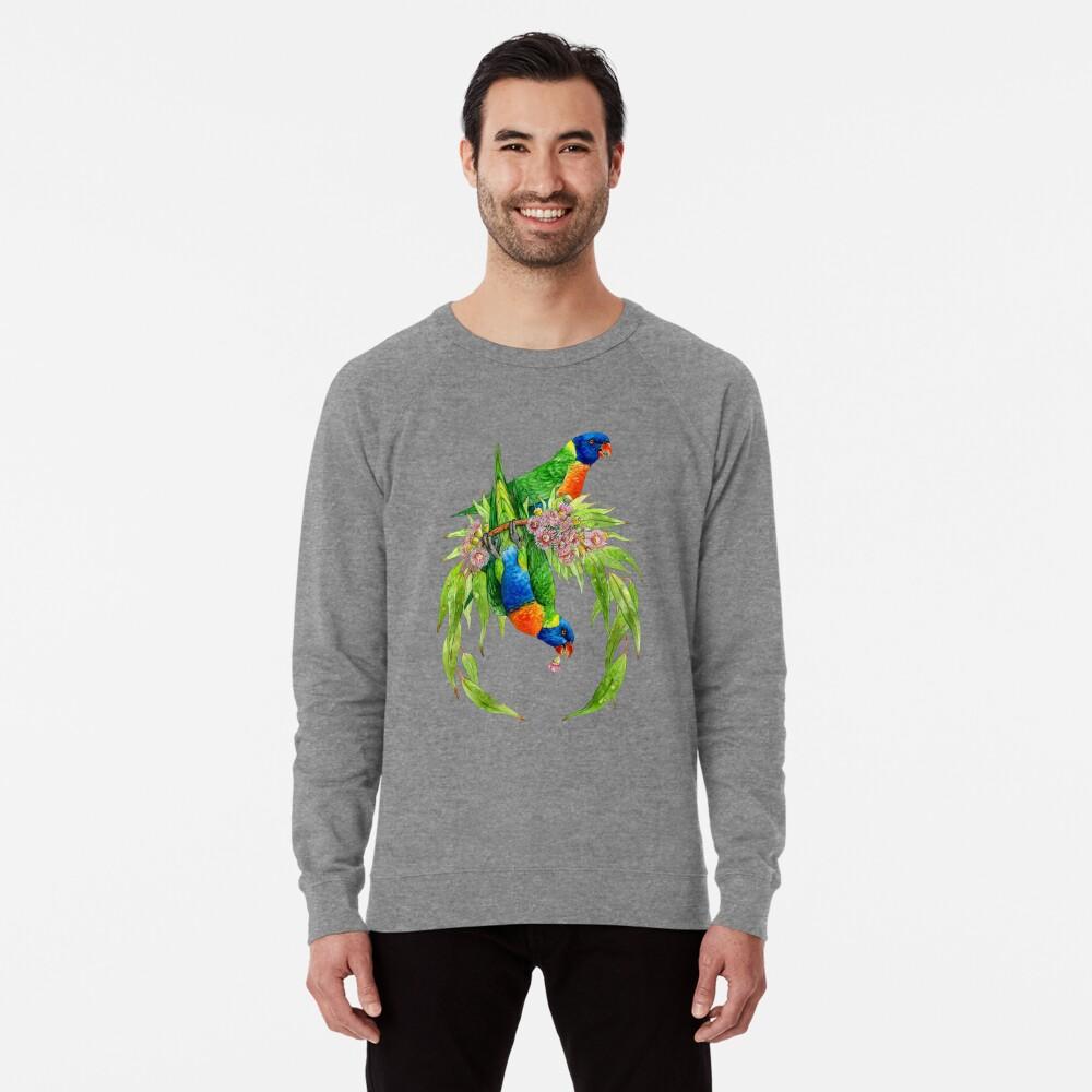 Regenbogen Lorikeets Leichter Pullover