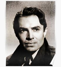 James Mason, Vintage Actor by John Springfield Poster