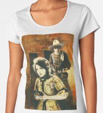 Vintage Western Movie Women's Premium T-Shirt