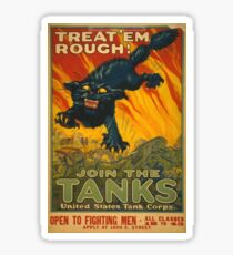Join The Tanks! Sticker