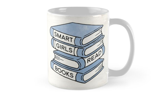 Smart Girls Read Books - book lover gift inspirational quote by RedHillPrints